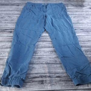Ann Taylor Loft Blue Ankle Zipper Joggers